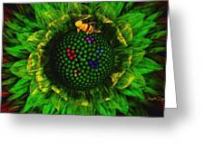 Bee Flower Greeting Card