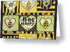 Bee Happy Greeting Card