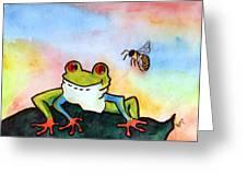 Bee Hoppy Greeting Card