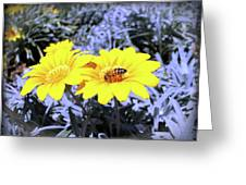 Bee On The Yellow Greeting Card