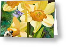Bee Open By Marilyn Nolan-johnson Greeting Card