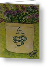 Bee Sting Crock With Good Luck Bow Heather And Thistles Greeting Card