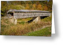 Beech Fork Or Mooresville Covered Bridge Greeting Card