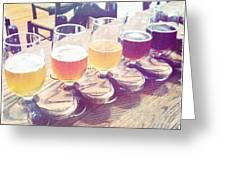 Beer Flight Greeting Card