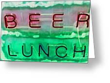 Beer Lunch Greeting Card