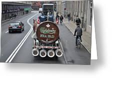 Beer Wagon Greeting Card
