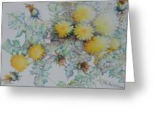 Bees Adore Dandelions Greeting Card