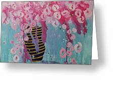 Bees In Pink Greeting Card