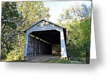 Beeson Covered Bridge Indiana Greeting Card