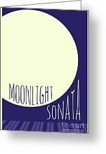 Beethoven Moonlight Sonata Greeting Card