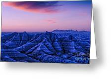 Before Sunrise, Badlands National Park Greeting Card