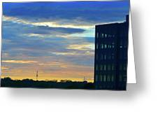 Before Sunset Color  Greeting Card