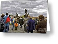 Before The Rain On The Charles Bridge Greeting Card