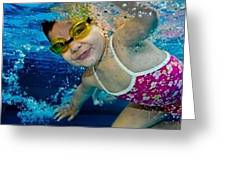Beginner To Advanced Swimmer Greeting Card