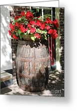 Begonias In The Barrel Greeting Card