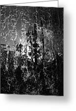 Behind A Waterfall -- B And W Greeting Card