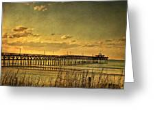 Behind Cherry Grove Pier  Greeting Card