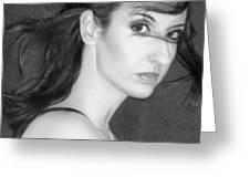 Behind Her Eyes Secrets Sleep... Greeting Card