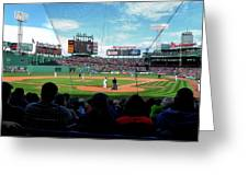 Behind Home Plate At Fenway Greeting Card