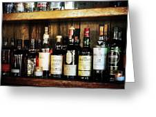 Behind The Bar Greeting Card by Cathie Tyler