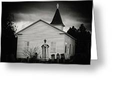 Behind The Church Greeting Card