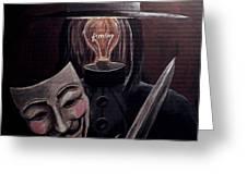Behind This Mask Greeting Card