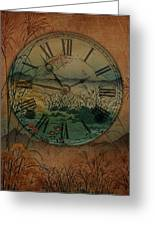 Behind Time Greeting Card