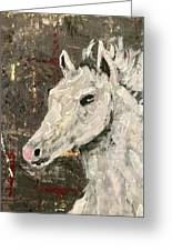 Behold A White Horse Greeting Card