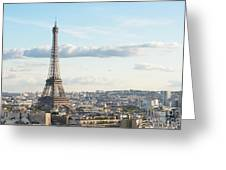 Paris Roofs And Tower Greeting Card