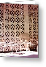Beige Chairs Palm Springs Greeting Card
