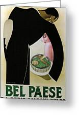 Bel Paese - Melzo, Italy - Vintage Cheese Advertising Poster Greeting Card