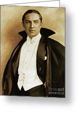 Bela Lugosi As Dracula Greeting Card