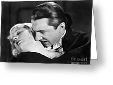 Bela Lugosi  Dracula 1931  Feast On Mina Helen Chandler Greeting Card