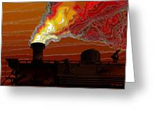 Belching Fire Greeting Card