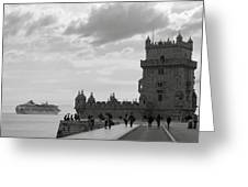 Belem And The Boat Greeting Card