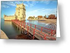 Belem Tower Lisbon Greeting Card