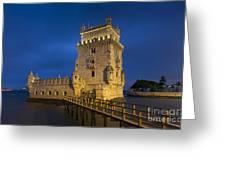 Belem Tower, Lisbon, Portugal Greeting Card