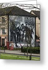 Belfast Mural - Civil Rights Association - Ireland Greeting Card