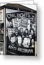 Belfast Mural - Civil Rights - Ireland Greeting Card