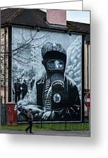 Belfast Mural - Face Mask - Ireland Greeting Card