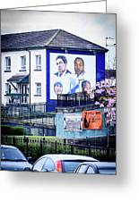 Belfast Mural - Humanitarians - Ireland Greeting Card