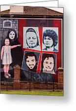 Belfast Mural - Ireland Greeting Card