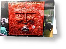 Belfast Wall - Red Face - Ireland Greeting Card