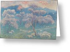 Belgian, Moutons Aux Amandiers  Greeting Card