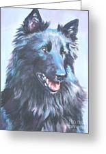 Belgian Sheepdog Portrait Greeting Card