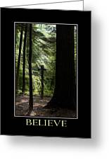 Believe Inspirational Motivational Poster Art Greeting Card by Christina Rollo