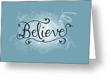 Believe Winter Art Greeting Card
