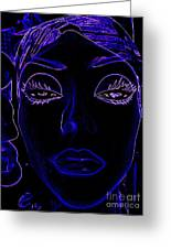 Belinda In Blue Greeting Card