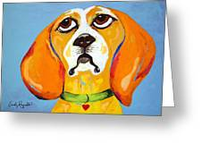 Belinda The Beagle Greeting Card