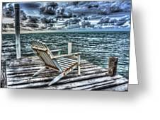 Belize Beach Chair #2 Greeting Card